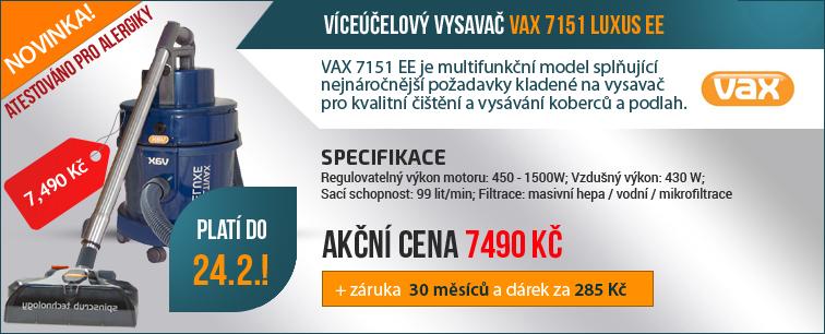 V�ce��elov� vysava� VAX 7151 LUXUS EE